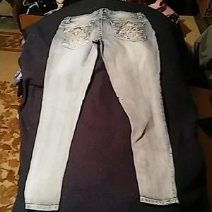 Paisley Sky Skinny Jeans